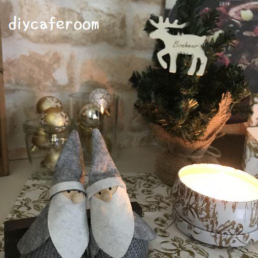 ニトリで玄関クリスマスディスプレイ