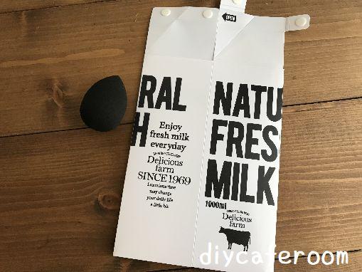 100均ショップセリアの牛乳パックケース