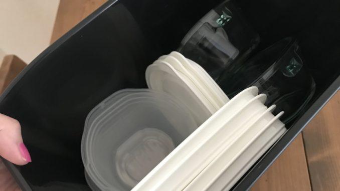 タッパー収納セリアのゴミ箱