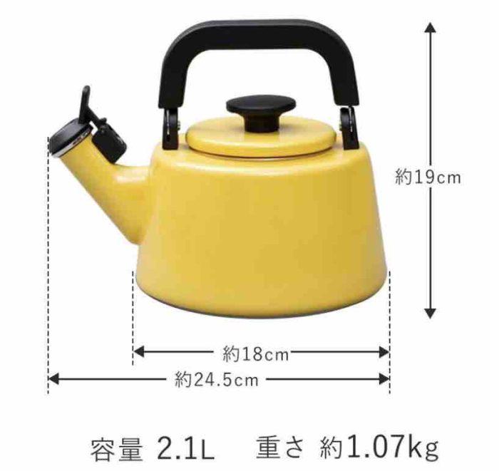 kettle size