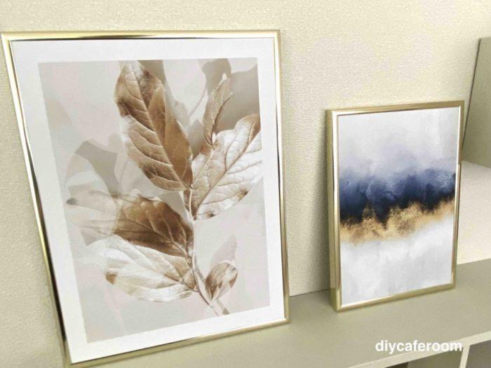 ポスターストアの抽象画と植物
